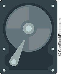 Hard disk icon, flat style