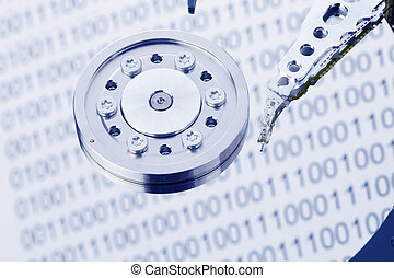 Hard disk of a computer