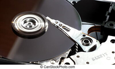 Hard disk start and stop rotation