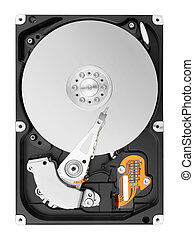 hard disk isolated on white background