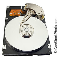 Hard disk for a computer on a white background
