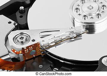 hard disk - close up of hard disk