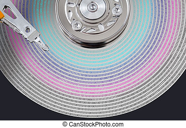 Hard disk surface and magnetic head - hard disk surface with...