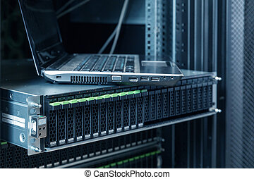 hard disks drive in the storage system - Rackmount many hard...