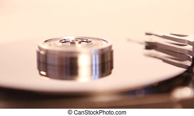 Hard Drive Disc - Close up of working hdd