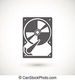 Hard drive icon - Hard drive disk icon. Data storage...