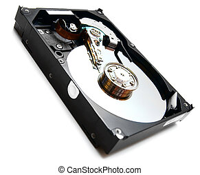 Hard drive. On a white background.