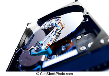 Hard drive on a white background.