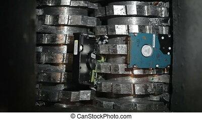 Shredding hard drives for data destruction
