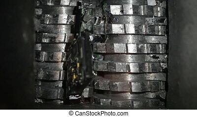 Hard drives shredder
