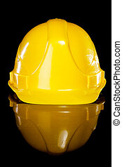 Hard hat. - Hard hat isolated on a black background