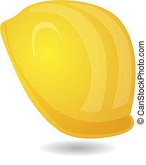 helmet - hard hat helmet, miner's helmet in yellow