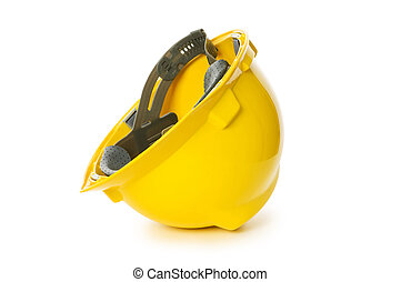 Hard hat isolated on the white background