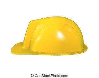 hard hat of engineer isolated on white background