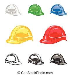 hard hat, safety helmet set, building, under conctruction ...