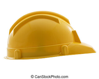 Yellow hard hat isolated on a white background