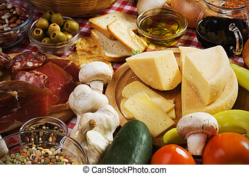 Hard italian cheese and other food ingredients