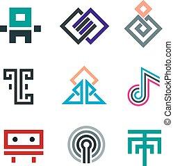 Hard lines simple pixel pictogram c