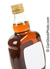 Hard Liquor Bottle with white background