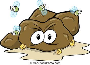 Hard Poop Turd Vector Illustration art