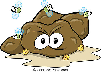 Hard Poop Turd Vector Illustration art