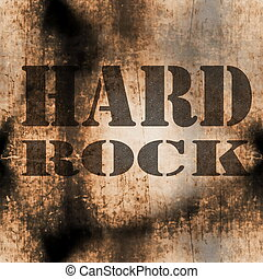 hard rock music word