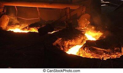 Melting Iron - Hard work in a Foundry, Melting Iron