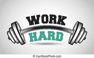 hard work in the gym design, vector illustration eps10...