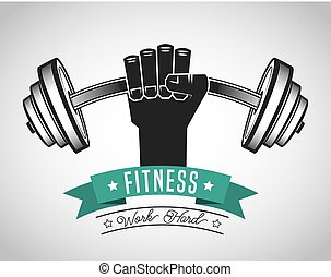 hard work in the gym design, vector illustration eps10...