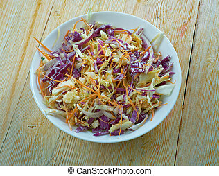 Hardcore coleslaw with Garlic Dressing .