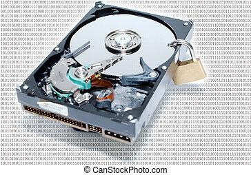 harddisc, hos, lock/security