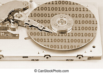 harddrive, internals, computadora