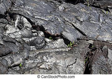 Harden lava flow