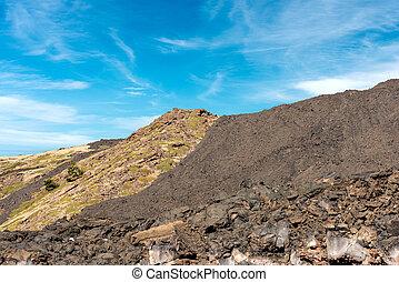 Hardened Lava Flow - Etna Volcano Sicily Italy