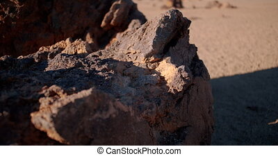 Hardened lava. Tenerife, Canary Islands. - Hardened lava. ...