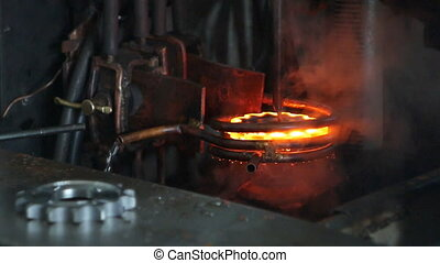 Hardening and heat treatment of metal parts for mechanical ...