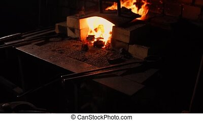 Hardening of the metal by sharp cooling in water. There is...