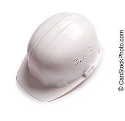 hardhat - isolated on white background, focus on the center