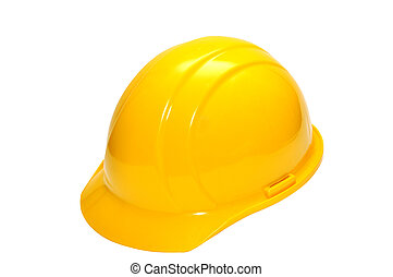 Hardhat isolated on white background with clipping path.