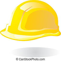 Hardhat yellow vector illustration EPS10