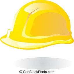 Hardhat yellow vector illustration EPS10