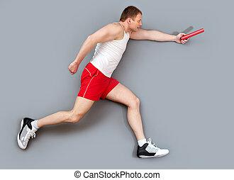 hardloop, deelnemer, relay