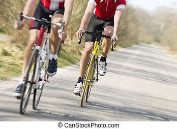 hardloop, fiets
