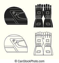 hardloop, stock., auto, verzameling, vector, ontwerp, verzameling, logo., pictogram