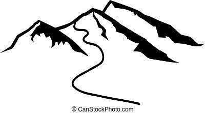 hardloop wedstrijd, bergen, ski
