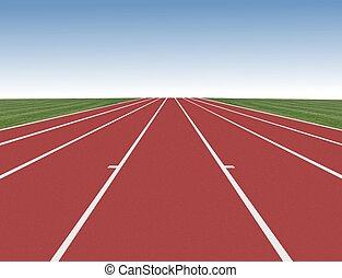 hardloop wedstrijd, blauwe , rennende , hemel