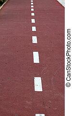 hardloop wedstrijd, fiets