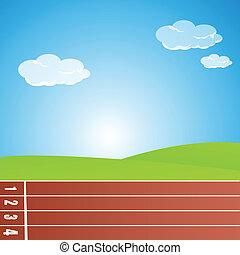 hardloop wedstrijd, het snelen