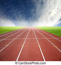 hardloop wedstrijd, rennende