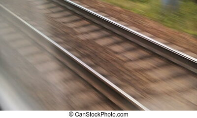 hardloop wedstrijd, spoorweg, closeup